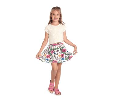 b1f751aeb3 Conjunto Cata-Vento Infantil Pérolas com Floral Natural e Branco