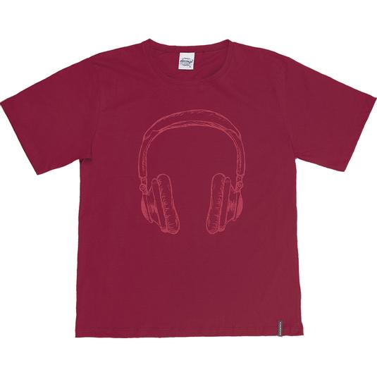 Camiseta-Juvenil-Abrange-Headphone-Vermelho