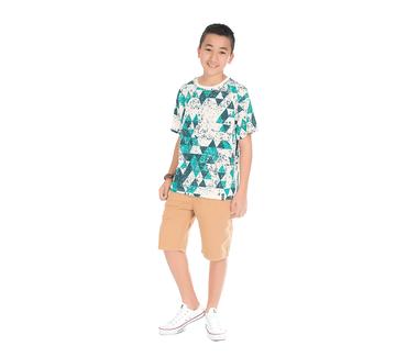 Camiseta-Juvenil-Abrange-Triangulos-Verde