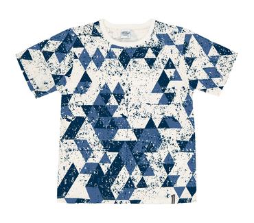 Camiseta-Juvenil-Abrange-Triangulos-Azul