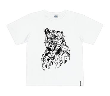 Camiseta-Juvenil-Abrange-Lobo-Branco