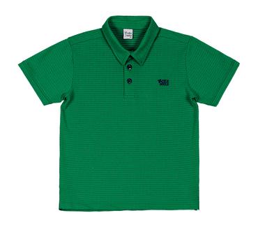 Camiseta-Polo-Infantil-Cata-Vento-Bordado-Verde