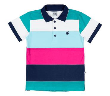Camiseta-Polo-Infantil-Cata-Vento-Listras-Verde