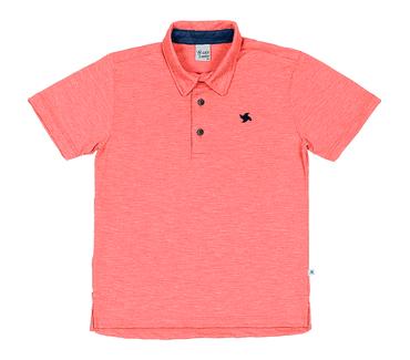 Camiseta-Polo-Infantil-Cata-Vento-Bordado-Alaranjado