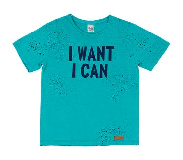 Camiseta-Infantil-Cata-Vento-I-Want-I-Can-Verde