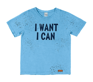 Camiseta-Infantil-Cata-Vento-I-Want-I-Can-Azul