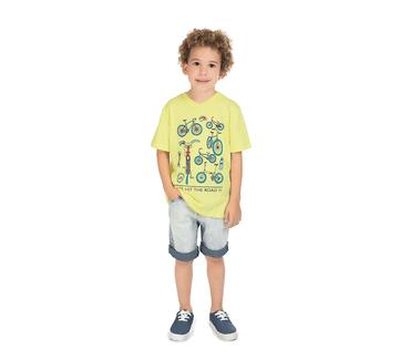 Camiseta-Infantil-Abrange-Bikes-Amarelo