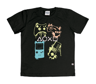 Camiseta-Infantil-Abrange-Video-Game-Preto