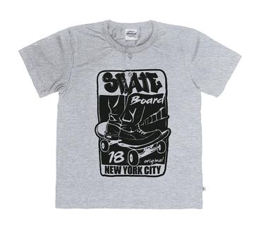 Camiseta-Infantil-Abrange-Skateboard-Mescla