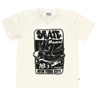 Camiseta-Infantil-Abrange-Skateboard-Natural