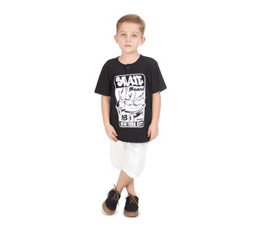 Camiseta-Infantil-Abrange-Skateboard-Preto