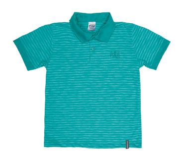 Camiseta-Polo-Infantil-Abrange-Listrado-Verde