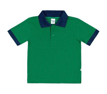 Camiseta-Polo-Primeiros-Passos-Cata-Vento-Bolinhas-Verde