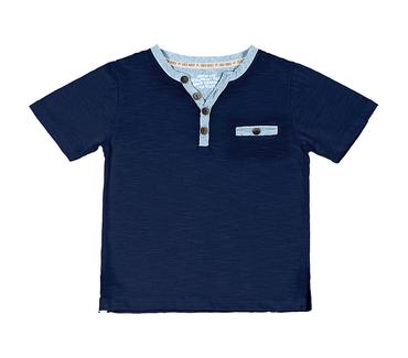 Camiseta-Primeiros-Passos-Cata-Vento-Bolso-Azul-Marinho