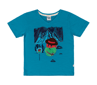Camiseta-Primeiros-Passos-Cata-Vento-Cactos-Azul