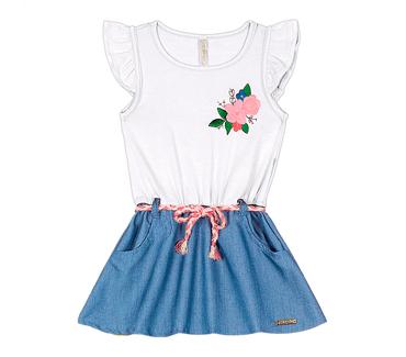 Vestido-Primeiros-Passos-Cata-Vento-Floral-Rosa