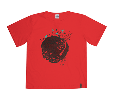 Camiseta-Juvenil-Abrange-Disco-Vermelho