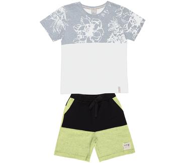 Conjunto-Cata-Vento-Infantil-Flores-Tropicais-Branco-e-Amarelo