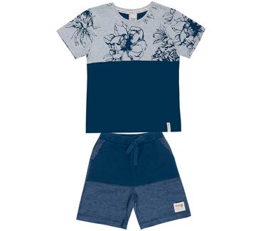 Conjunto-Cata-Vento-Infantil-Flores-Tropicais-Mescla-e-Azul-Marinho