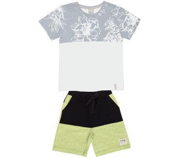 Conjunto-Cata-Vento-Juvenil-Flores-Tropicais-Branco-e-Amarelo