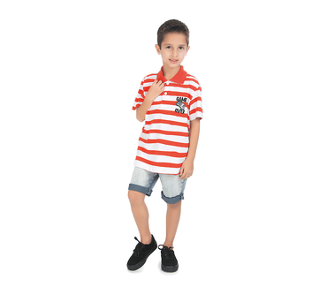 Camiseta-Polo-Infantil-Abrange-Game-Over-Listrado-Sortidas
