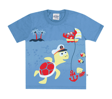 Camiseta-Primeiros-Passos-Tartaruga-Azul