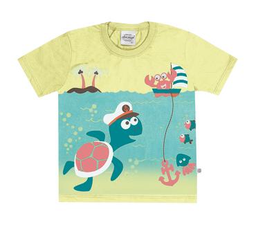 Camiseta-Primeiros-Passos-Tartaruga-Amarelo