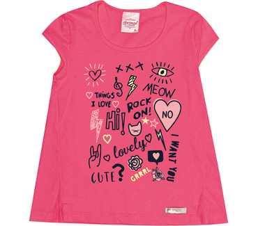 Blusa-Infantil-Abrange-Lettering-Vermelho
