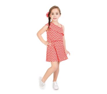 Vestido-Infantil-Abrange-Ombro-Unico-Alaranjado