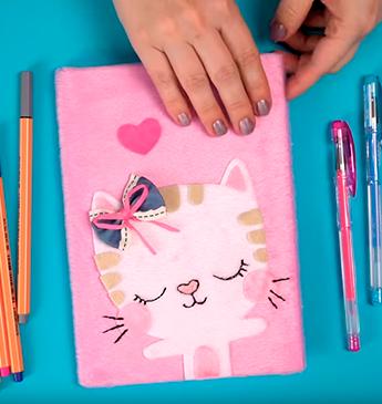 Customize seus cadernos escolares - DIY