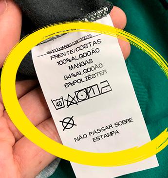 Descubra o que significa os símbolos em nossas etiquetas