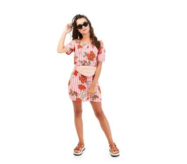 Vestido-Juvenil-Abrange-Way-Flores-Laranja