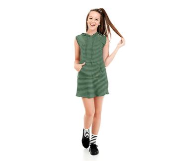Vestido-Juvenil-Abrange-Way-Capuz-Verde