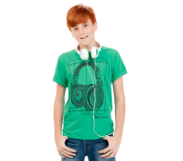 Camiseta-Juvenil-Abrange-Way-Headphone-Verde