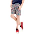 Bermuda-Juvenil-Abrange-Way-Moletinho-Floral-Azul-Marinho