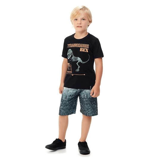 Conjunto-Infantil-Abrange-T-Rex-Preto