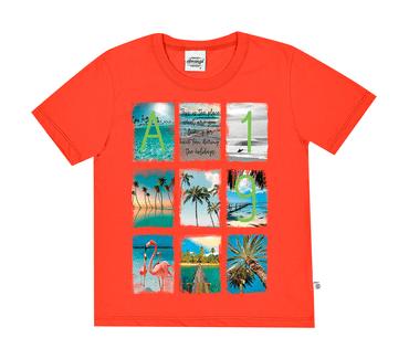 Camiseta-Infantil-Abrange-Summer-Alaranjado