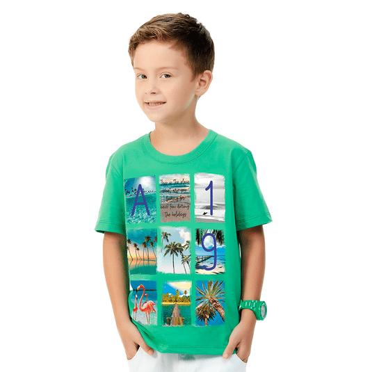 Camiseta-Infantil-Abrange-Summer-Verde