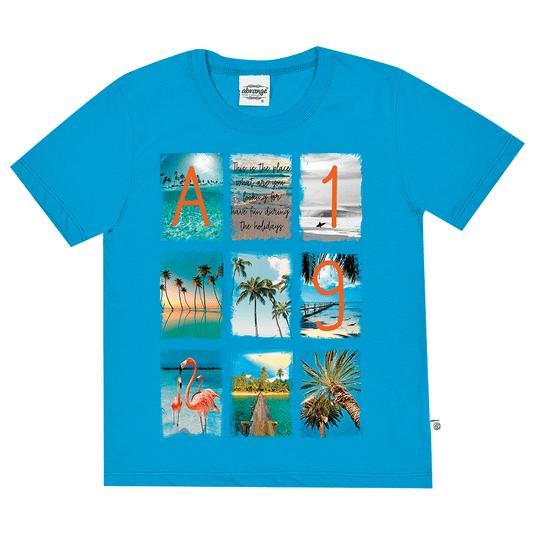 Camiseta-Juvenil-Abrange-Summer-Azul