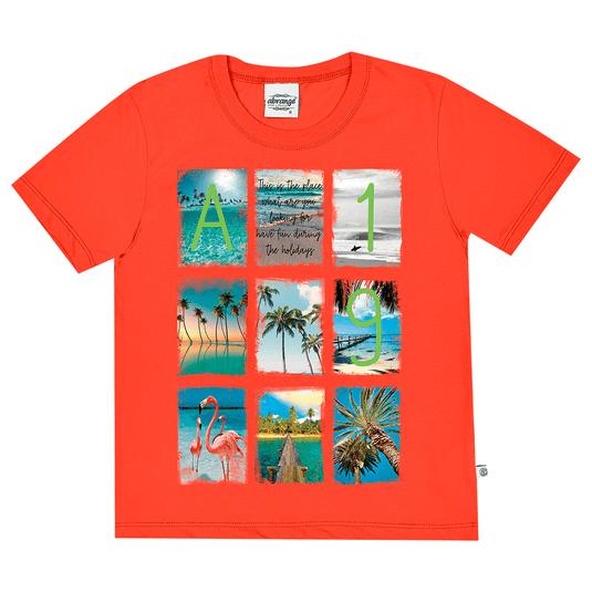 Camiseta-Juvenil-Abrange-Summer-Alaranjado