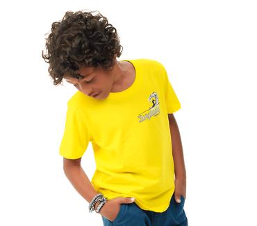 Camiseta-Infantil-Abrange-Longboard-Amarelo