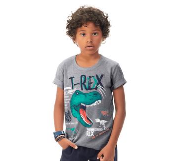 Camiseta-Infantil-Abrange-T-Rex-Mescla