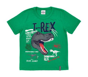 Camiseta-Infantil-Abrange-T-Rex-Verde