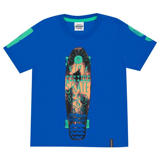 Camiseta-Infantil-Abrange-Skate-Azul