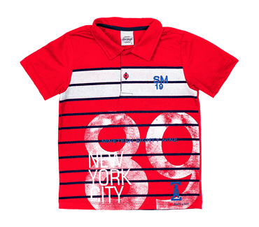 Camisa-Polo-Infantil-Abrange-Listras-Vermelho