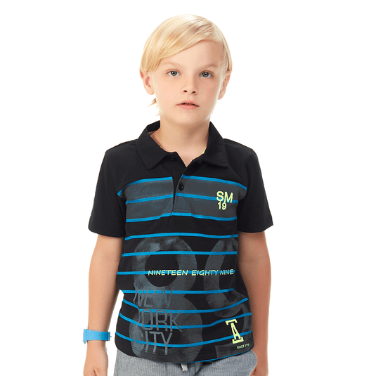 Camisa-Polo-Infantil-Abrange-Listras-Preto