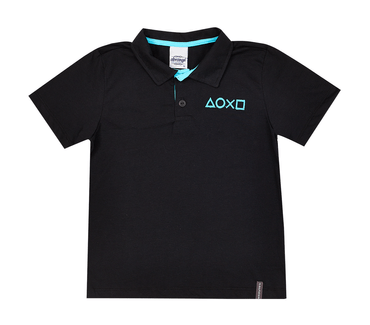Camisa-Polo-Infantil-Abrange-Game-Preto