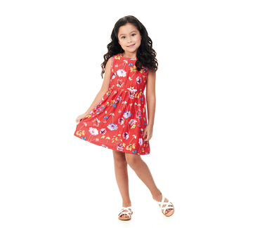 Vestido-Infantil-Abrange-Flores-Vermelho