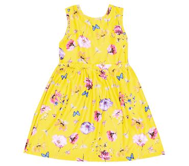 Vestido-Infantil-Abrange-Flores-Amarelo