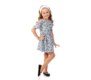 Vestido-Infantil-Abrange-Flores-Azul-Marinho-e-Natural